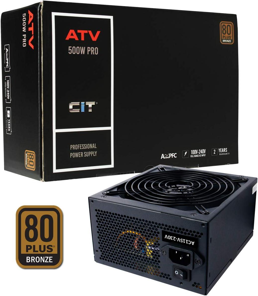 CiT CIT-ATV500-R - Fuente de alimentación, Color Negro: Amazon.es: Informática