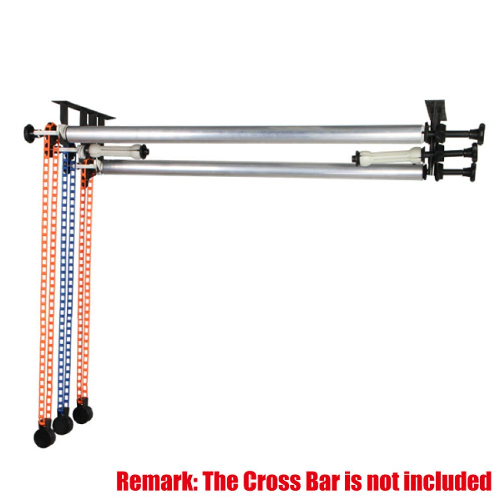 Fotoconic 3 Roller Wall Ceiling Mount Manual Background Support Stand for Mounting 3 Backdrop