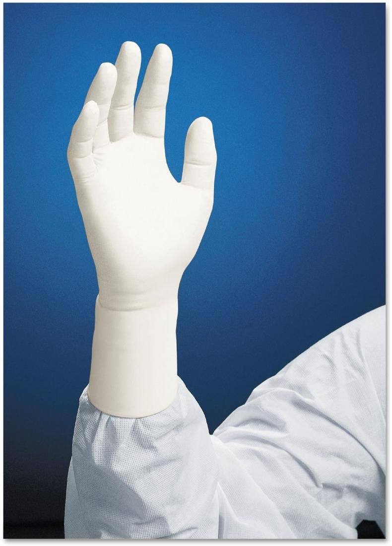 Kimberly-Clark Kimtech Pure G3 White Small Nitrile Disposable General Purpose & Examination Gloves - Rough Finish - 12 in Length - 62991 [PRICE is per BOX]