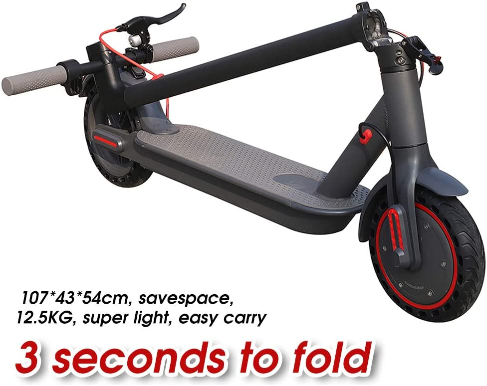 BSTOPSEL AOVO EW6 Electric Scooter Double Brake LCD Display 3 Speed Adjustable Scooter with cruise function 30km//h Maximum Speed