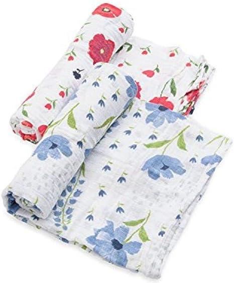 Muselina Algodon Organico Summer Poppy 120x120 2uds: Amazon.es: Bebé