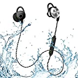 MIFO U2 Bluetooth Headphones, Sweatproof Waterproof IPX6 Wireless 4.1 Magnetic Earbuds Stereo Earphones, Long Working Time Headset Fit for Sports with Built-in Mic