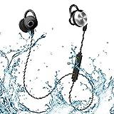 MIFO U2 Bluetooth Headphones, Sweatproof Waterproof IPX6 Wireless 4.1 Magnetic Earbuds Stereo Earphones, Long Working Time Headset Fit for Sports with Built-in Mic