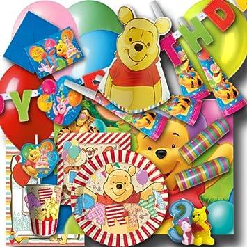 Winnie Pooh Kindergeburtstag Partyset mit Zahlenkerze 3: Amazon.de ...