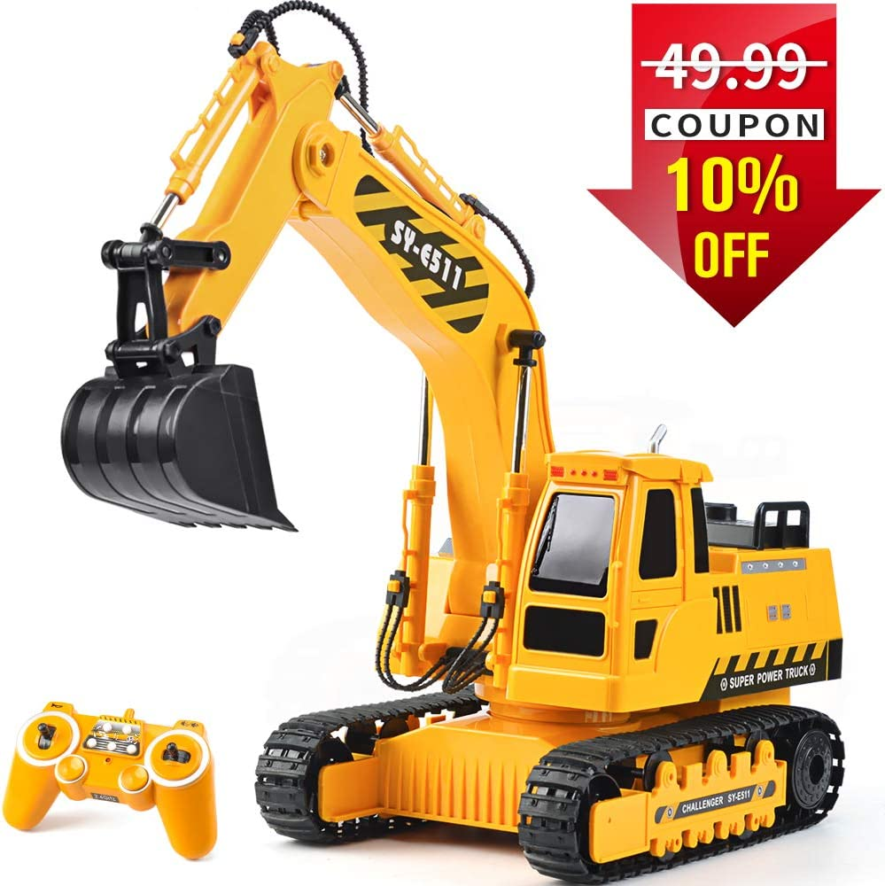 DOUBLE E RC Excavator Fully Functional Construction Toys