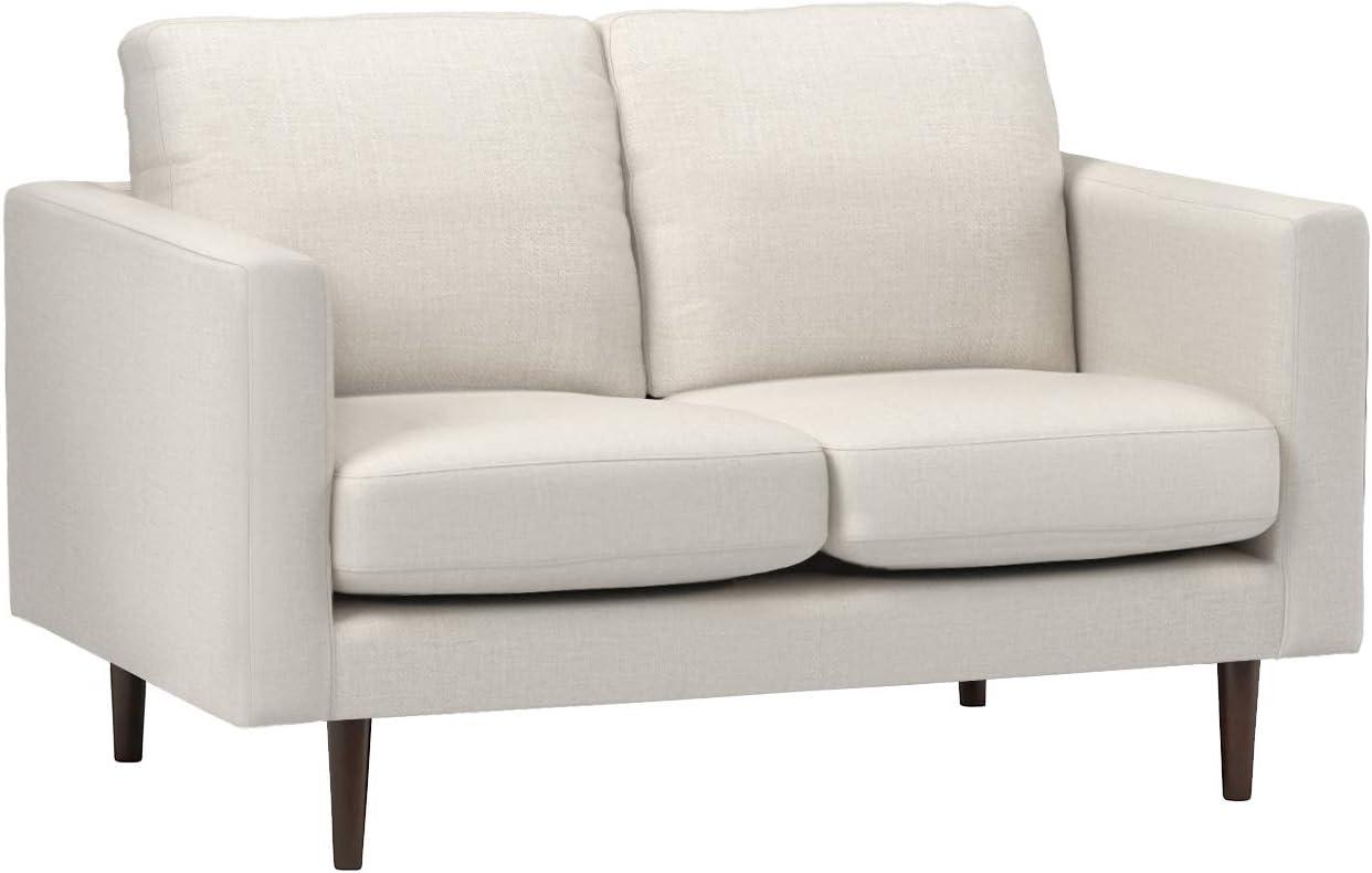 Amazon Brand Rivet Revolve Modern Upholstered Loveseat Sofa 56 W Linen Home Kitchen