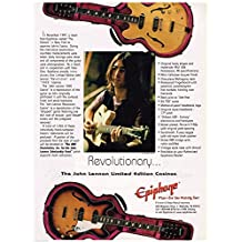 Epiphone - John Lennon Limited Edition Casinos - 1999 Print Advertisement