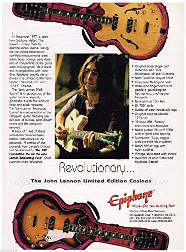 Price comparison product image Epiphone - John Lennon Limited Edition Casinos - 1999 Print Advertisement