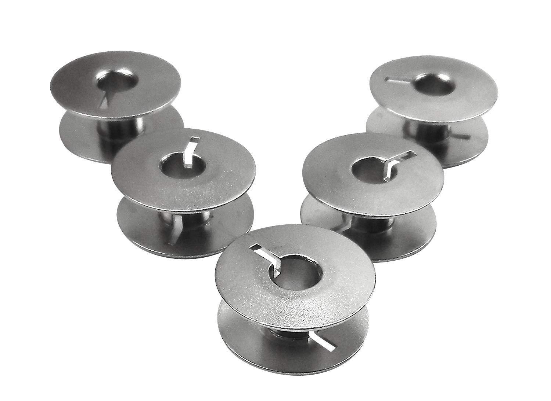 5Metal Bobbins (Bobbin Thread) for Riccar and Veritas Sewing Machine Runnertools