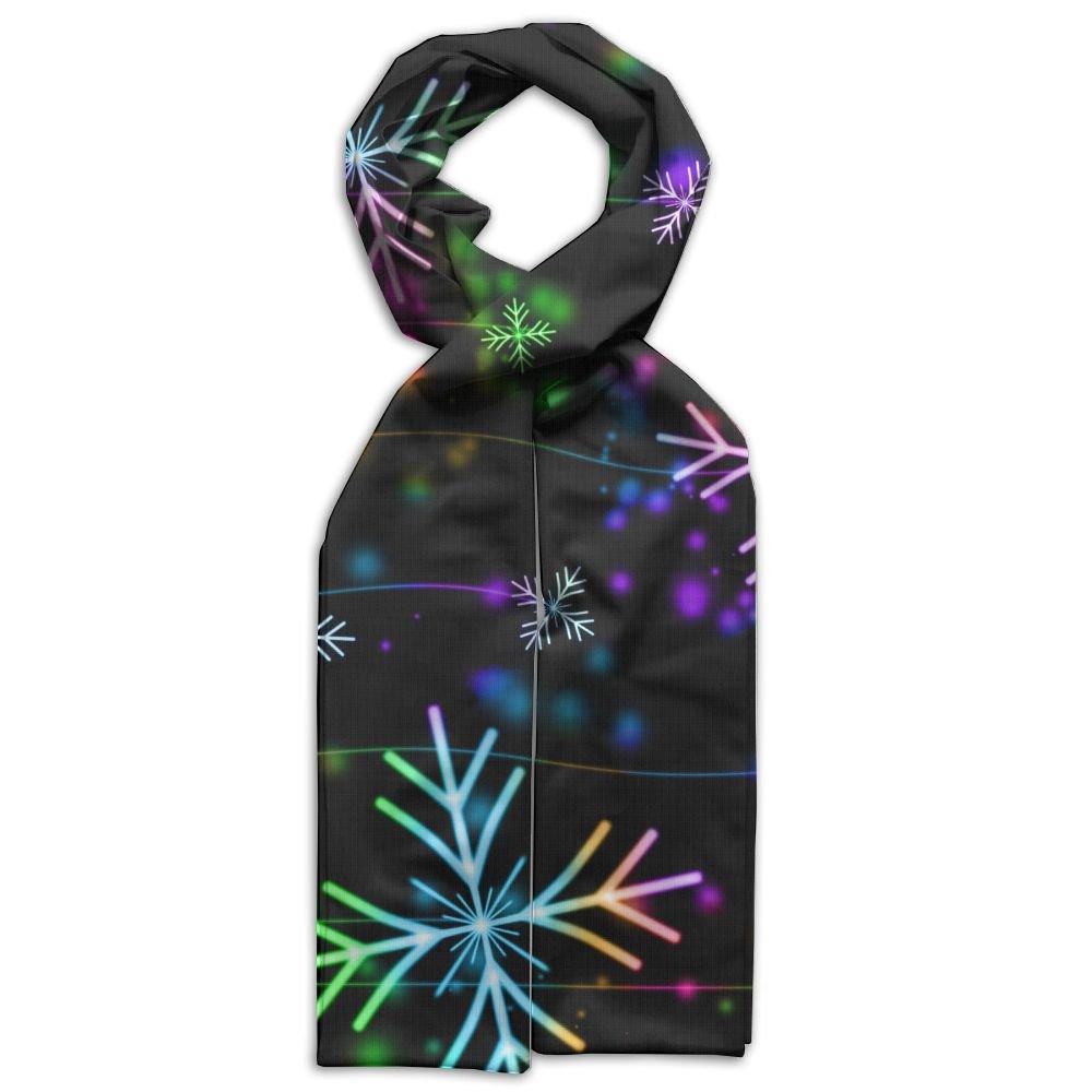 DGYEG44 Snowflakes Printing Scarf Kids Warm Soft Fashion Scarf Shawl For Autumn Winter