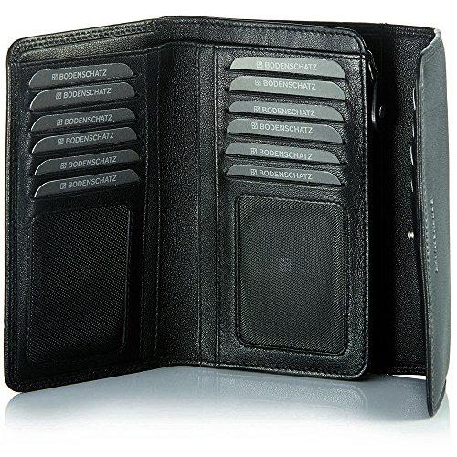 Bodenschatz Damen Geldbörsen 15x10x3 cm (B x H x T) Schwarz (Black 01) lVUpEm