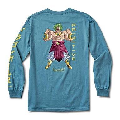 95db8fd1 Primitive x Dragon Ball Z Super Saiyan Broly Men's T Shirt (S, Slate Blue