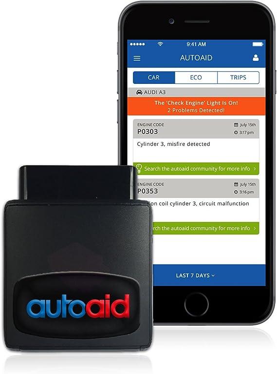 Autoaid Telematic Obd2 Dongle App Diagnosegerät Für Alle Automarken Inkl Sim Karte Und Daten Auto