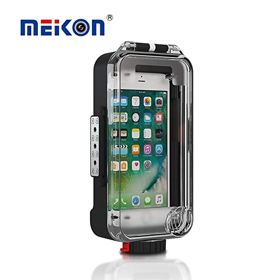 quality design e9c11 848c4 MEIKON Waterproof Case for iPhone X Android Phone Bluetooth Control  130ft/40m Underwater O Ring Full Sealed Cover Snowproof Shockproof  Dirtproof IPX8 ...