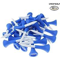 Crestgolfgoma cojín Top plástico Golf Tees, Blanco plástico