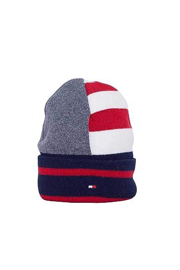63aff4623744 Tommy Hilfiger Man Striped Knit Hat  Amazon.fr  Vêtements et accessoires