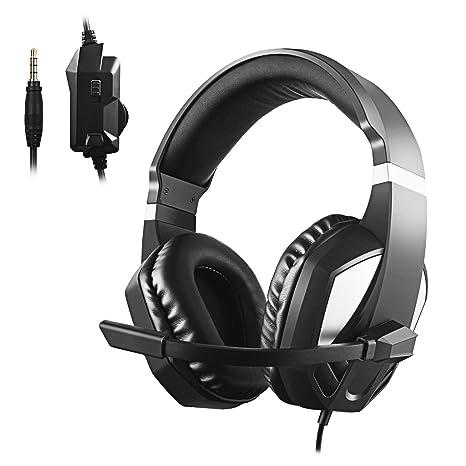 Diswoe Gaming Headset per Xbox one PS4-3.5mm Wired Cuffie da gioco stereo  overhead e257c1ae72d7