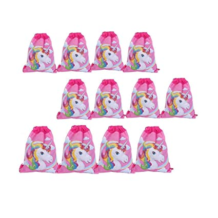 Mintbon Unicorn Drawstring Bag Pouch For Girls Candy Gift Bags Children Birthday Party