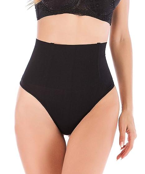 57fe179b0ccf15 DODOING Womens Shapewear High Waist Cincher Girdle Butt Lifter Thong Tummy  Slimmer Control Panties at Amazon Women's Clothing store: