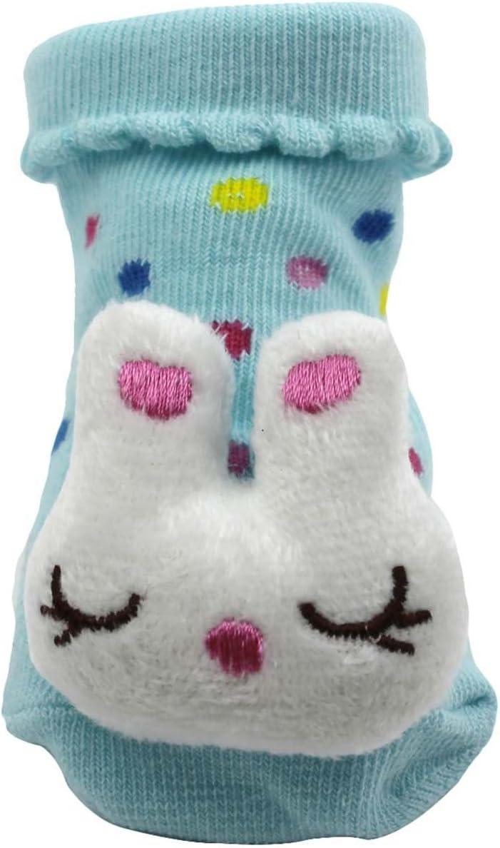 DDU Unisex 3d animal estilo calcetines de beb/é Dise/ño de zapatos Botas Rabbit