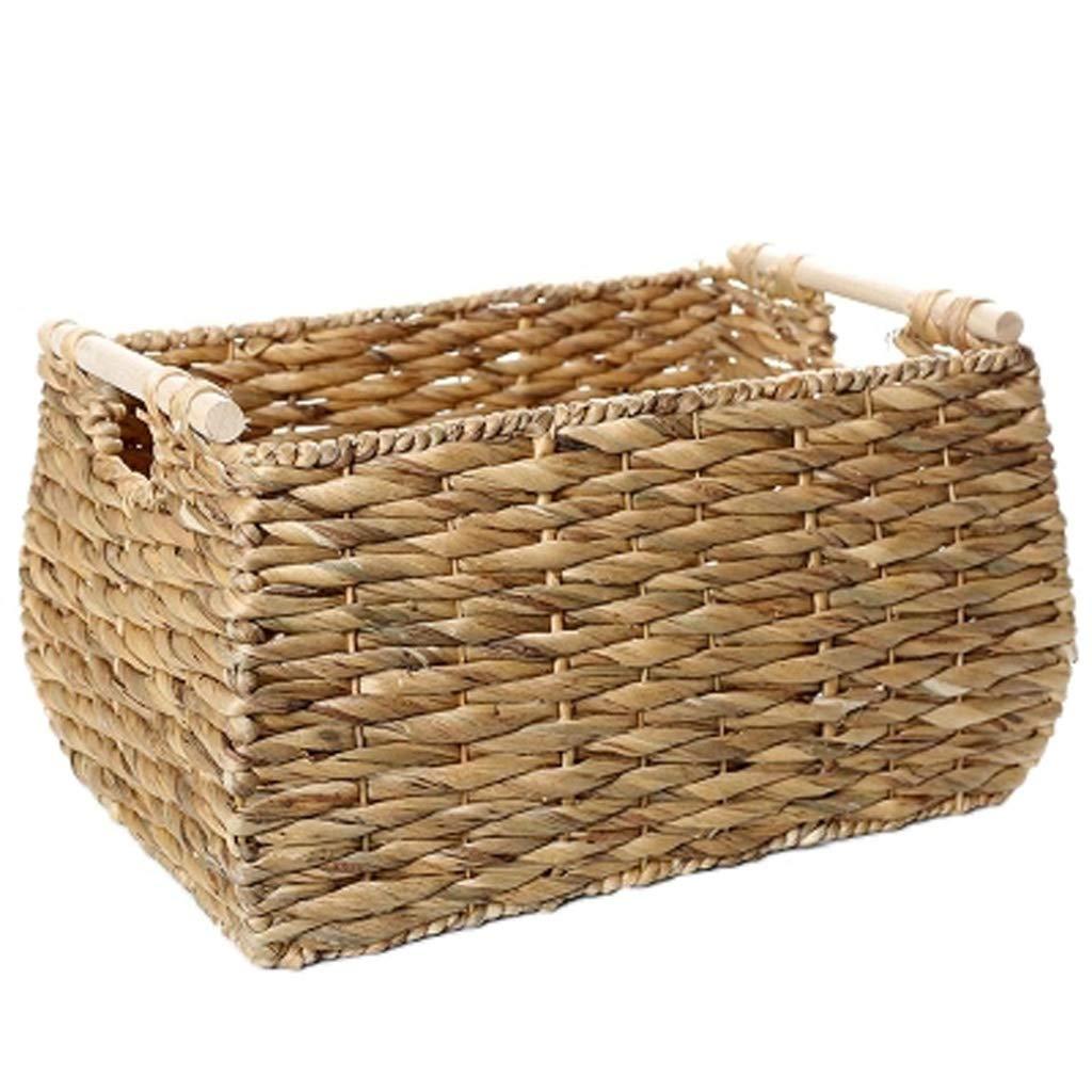 Amazon.com: Straw Living Room Bedroom Storage Basket Storage ...