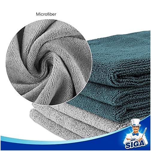 """MR.SIGA Microfiber Cleaning Cloth, Pack of 6, Size: 13.8"""" x 15.7"""" 