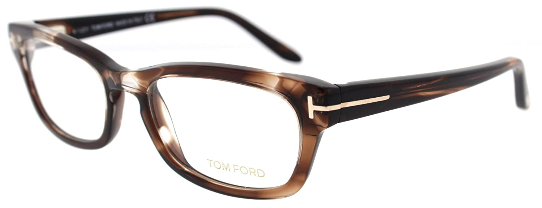 db31462e966 Amazon.com  TOM FORD Eyeglasses TF 5184 047 Light Brown 52MM  Clothing