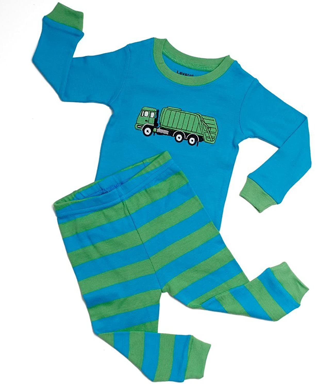 baby boy s pajama sets com leveret little boys garbage truck 2 piece pajama 100% cotton 6m 14 years