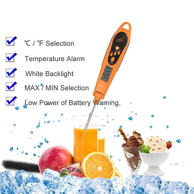 ... Cocción Termómetro Lectura Instantánea Termómetro De Carne-Sonda Plegable Diseño Con Alarma De Temperatura para La Cocina Barbacoas: Home & Kitchen