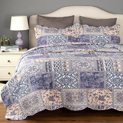 light blue bedspread twin - 9