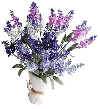 Amazon Com Artificial Flower Mixed Color Lavender 4 Bundle