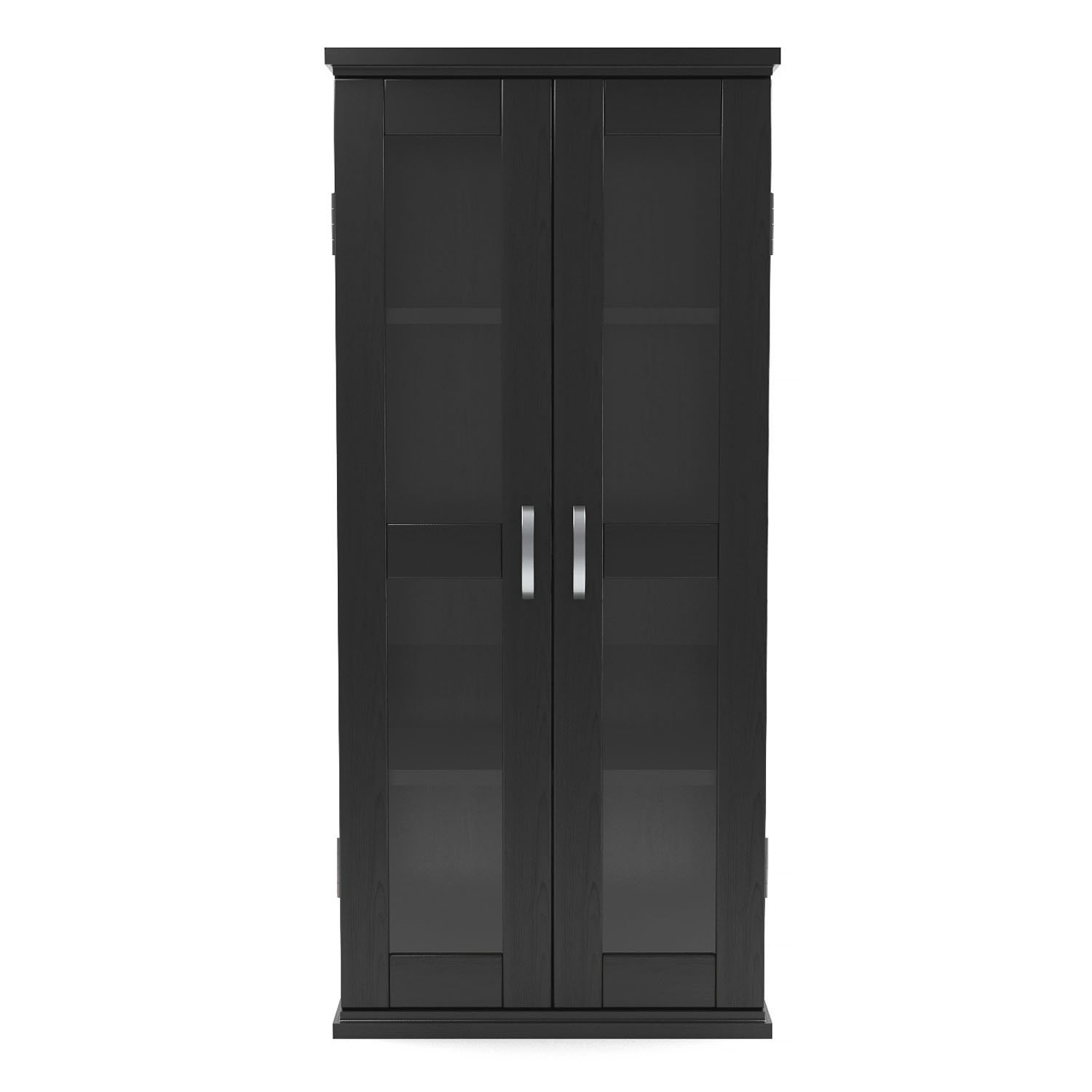 Gibson Living Kirkwell 41 Inch Wood DVD Tower in Black