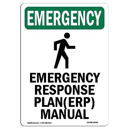 Amazon com: OSHA Emergency Sign - Response with Symbol