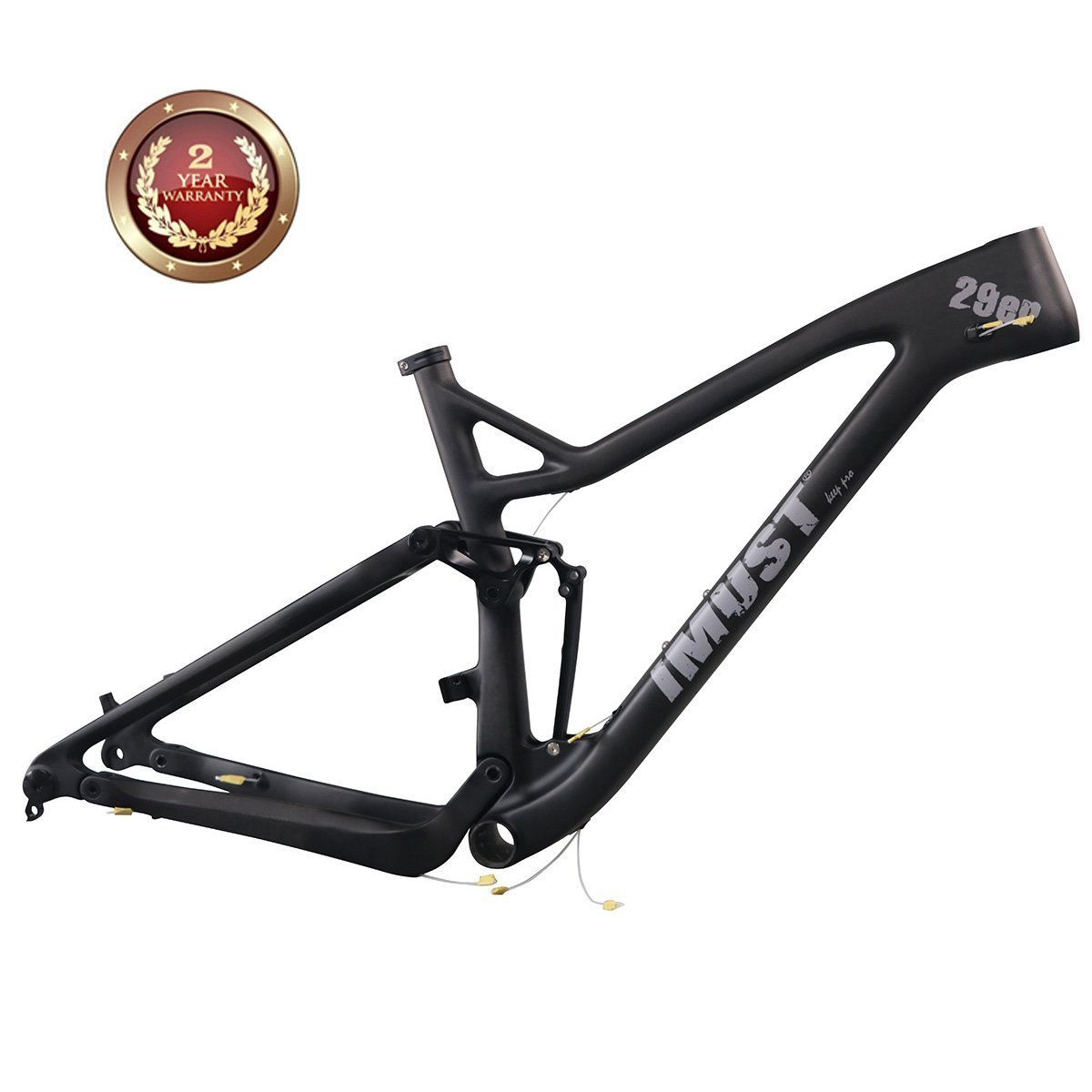 IMUST Carbon 29er Full Suspension XC frame/Trail frame XC29 BB92 Rear 12x148mm 18.5 inch