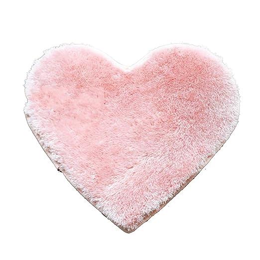 FAVOLOOK Antideslizante Alfombra, Lovely Forma de corazón ...