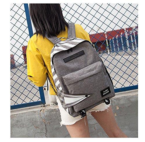de bolsa de Impermeable mochila ocio femenino paño de mochila viaje y hombro estudiante Lightgray ligero mochila oxford moda qwSrzq7vg