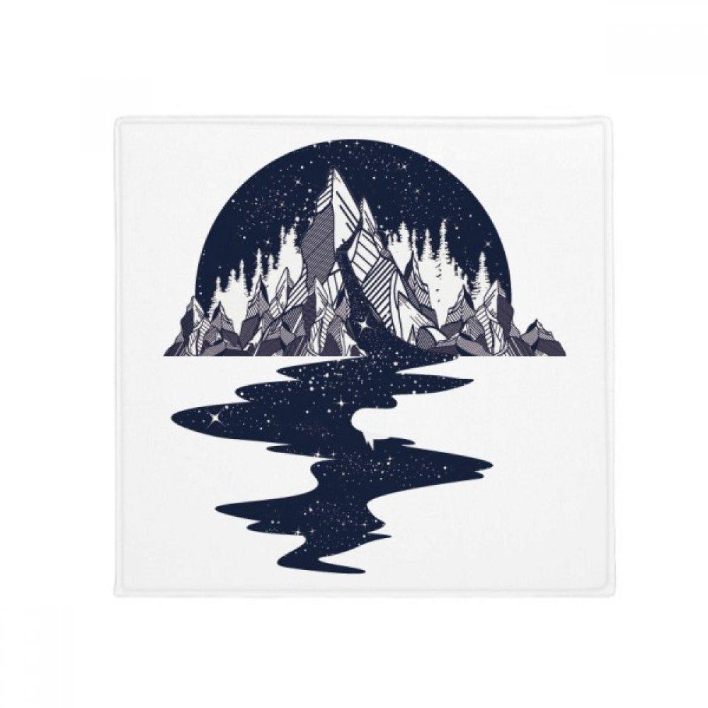 DIYthinker Iceberg Stream Stars Art Pattern Anti-Slip Floor Pet Mat Square Home Kitchen Door 80Cm Gift