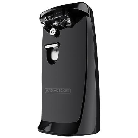 BLACK+DECKER EC475B-2 Electric Can Opener, COMPACT, Black