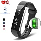Kungber Fitness Tracker, Slim Activity Tracker Watch with Heart Rate Monitor, IP 67 Waterproof Smart Bracelet, Sleep Monitor, Pedometer Calorie Step Counter for Android iOS, Gift for Kids Women Men