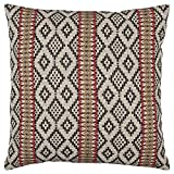 Stone & Beam Mojave-Inspired Throw Pillow, 20''x20'', Black and Red
