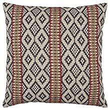 "Stone & Beam Mojave-Inspired High Contrast Throw Pillow Cover, 20""x20"", Black and Red"