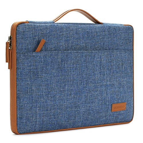 DOMISO 14 Inch Laptop Sleeve Canvas Notebook Portable Carrying Bag Case Handbag for HP / Microsoft / Apple / Lenovo / Acer / ASUS / Dell , Blue