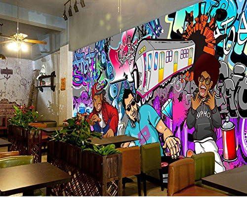 Yosot Fonds D/Écran De Mode Hip Hop Rock Music Bar Ktv Musique Hip-Hop Graffiti Mur Papier Peint Custom 3D Studio De Danse Peinture Murale-250Cmx175Cm