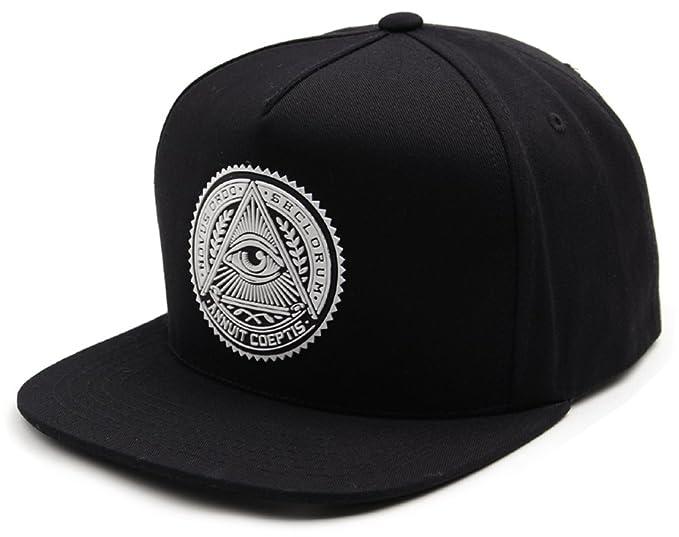 c342f5cde9a64 sujii ILLUMINATI Archetype Hip Hop Boys Snapback Hat Trucker Baseball Cap  Black   Whte