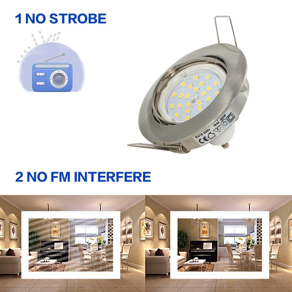 lot de 10. Abishion Spot Encastrable avec Support de Lampe en C/éramique GU10 Luminaire Encastr/é pour Ampoule GU10 Encastrable Plafond pour LED