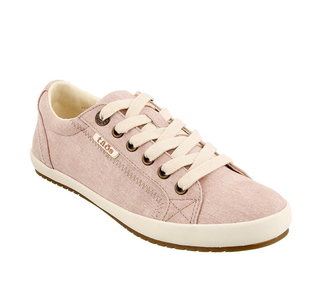 Taos Footwear Women's Star Fashion Sneaker B072BWQJ2Y 7.5 M US|Pink Wash Canvas