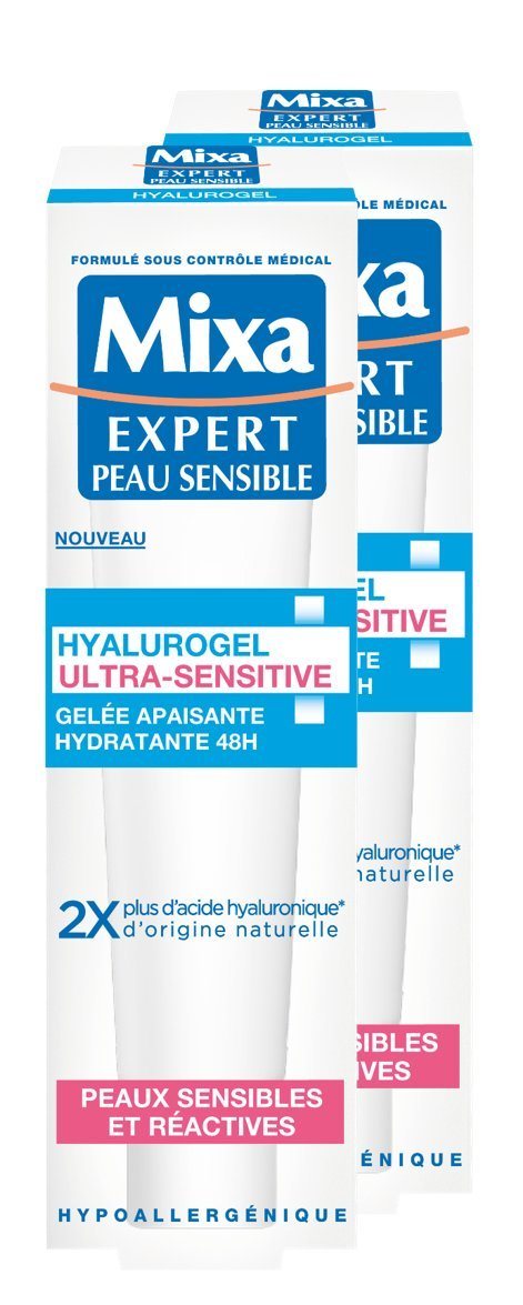 MIXA Hyalurogel Ultra-Sensitive Gelée Apaisante Hydratante 48H 40 ml - Lot de 2 3600550950892