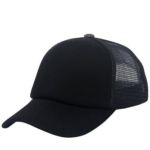 Mesh Back Trucker Cap Snapback Hat 5 Panel Unisex Plain Baseball Cap ... 02d00e166f8