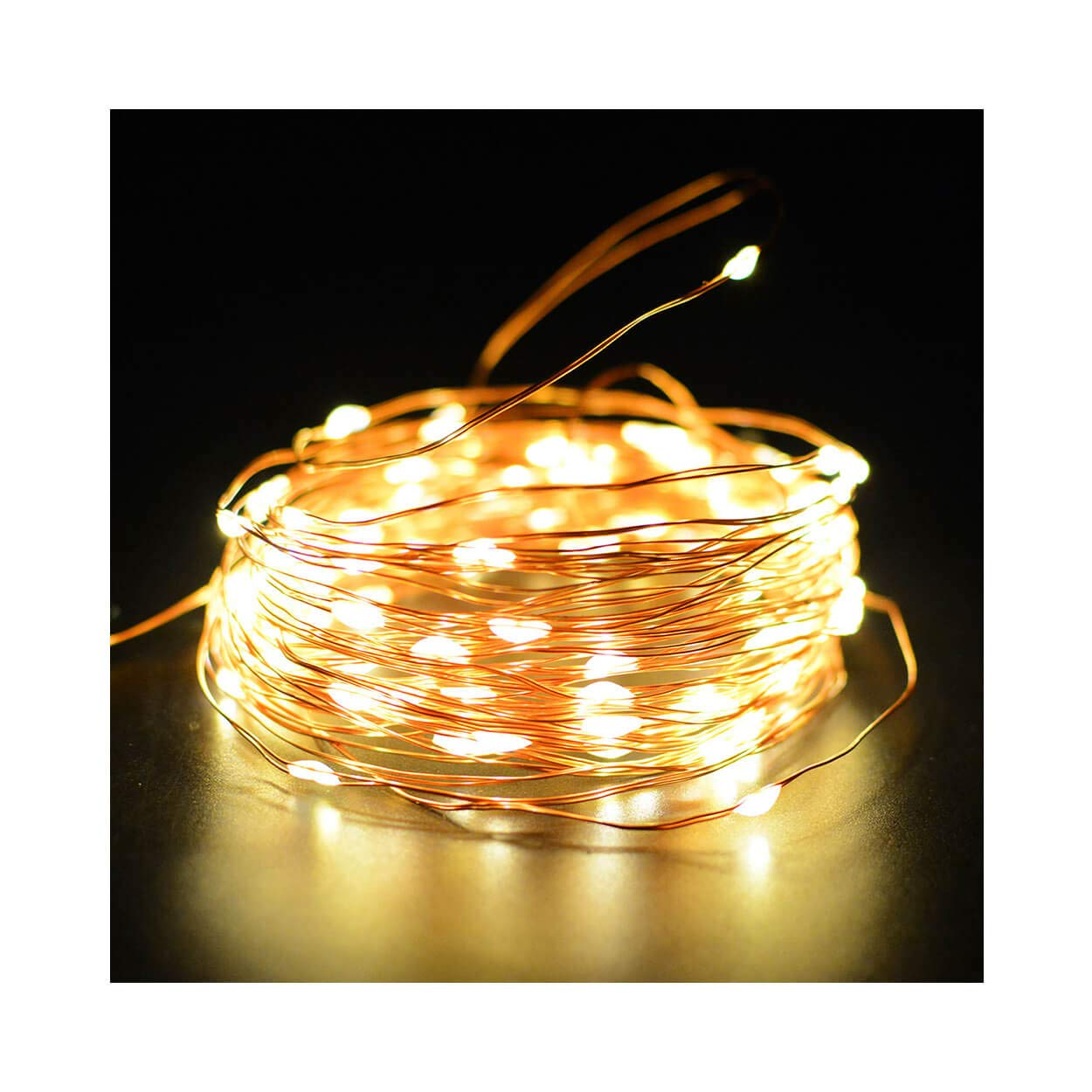 33Ft 10M LED String Lights Fairy Lights 100 LEDs Strings for Home Wall Garden Patio Wedding Bedroom Christmas Outdoor Xmas UL588 Approved (Warm White)