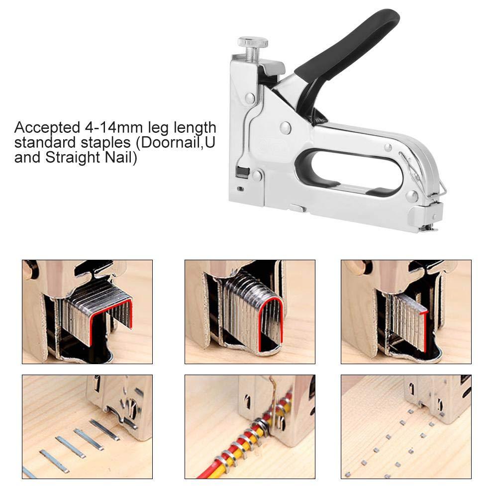 avec prot/ège-mains panneaux daffichage Pince /à agrafer manuelle 3 en 1 Outil /à main pour travailler le bois robuste avec pince /à agrafer pour la fixation de mat/ériel de menuiserie
